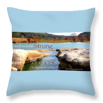 Strength Multiplied Throw Pillow