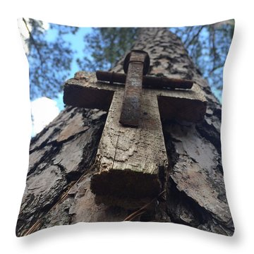 Stretch To The Sky Throw Pillow
