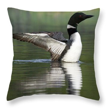 Stretching My Wings Throw Pillow