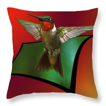 Throw Pillow featuring the photograph Stretching My Wings by Robert L Jackson