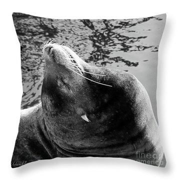 Stretch, Black And White Throw Pillow