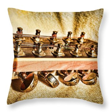 Stretching The Strings Throw Pillow