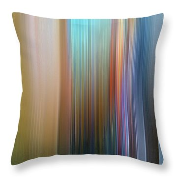 Throw Pillow featuring the digital art Stria Mediterranean by Gina Harrison