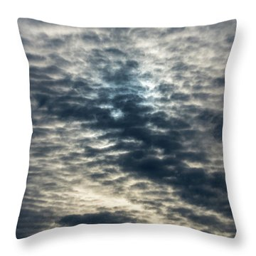 Striated Clouds Throw Pillow