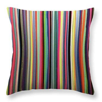 Striations Multi Throw Pillow by Margalit Romano