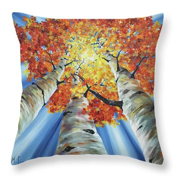 Striking Fall Throw Pillow