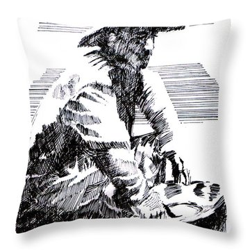 Striking It Rich Throw Pillow