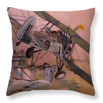 String Bag. Throw Pillow
