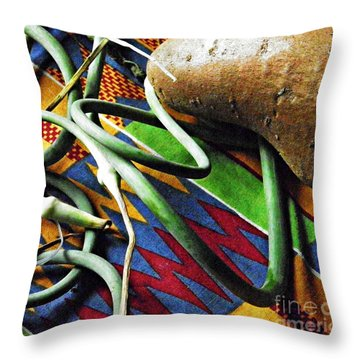 String Beans And Yam Throw Pillow by Sarah Loft