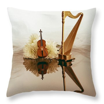 String Duet Throw Pillow