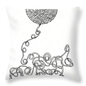 String Energy 2 Throw Pillow by Quwatha Valentine