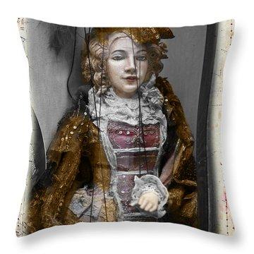 String Lady Throw Pillow