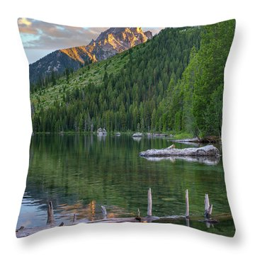 String Lake Throw Pillow by Tim Fitzharris