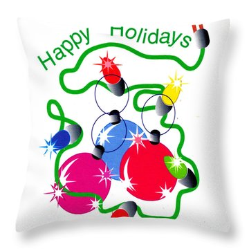 String Of Lights Throw Pillow