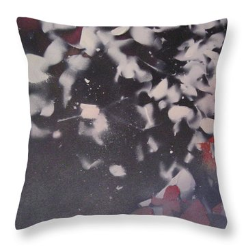 String Theory - Colored Leaves Throw Pillow by Carrie Maurer