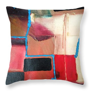 String Theory Abstraction Throw Pillow