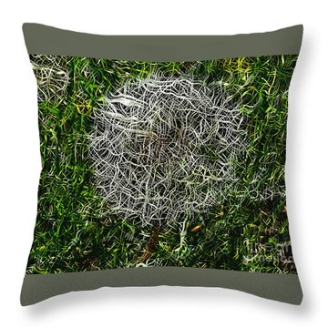 String Theory Dandelion Throw Pillow by Craig Walters