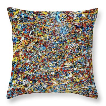 String Theory Throw Pillow by Dominic Piperata