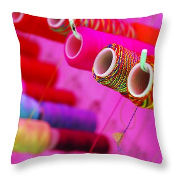 Throw Pillow featuring the photograph String Theory by Skip Hunt