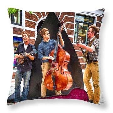 String Trio Throw Pillow