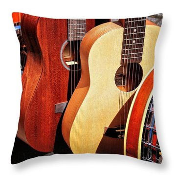 Strings Attached Throw Pillow by Wallaroo Images