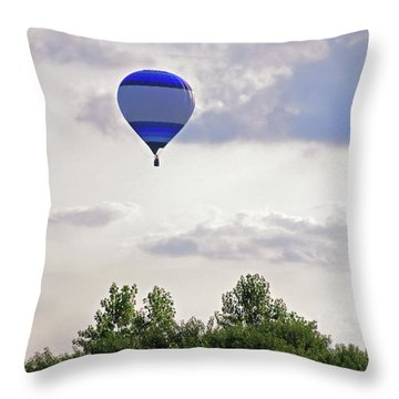 Throw Pillow featuring the photograph Striped Balloon by Angela Murdock