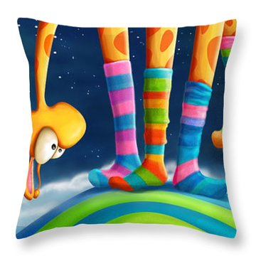 Striped Socks - Revisited Throw Pillow