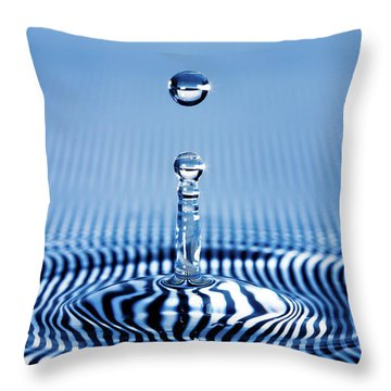 Striped Water Throw Pillow