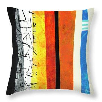 Throw Pillow featuring the mixed media Stripes by Elena Nosyreva