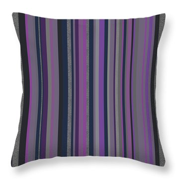 Stripes In Grayed Lavender Throw Pillow