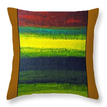 Stripes Number 3 Throw Pillow by Scott Haley