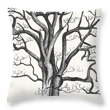 Stripped Bare Throw Pillow