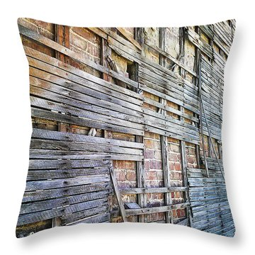 Throw Pillow featuring the digital art Strips by Steve Sperry