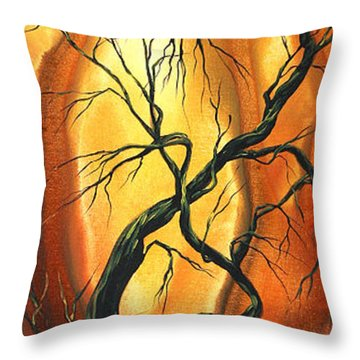 Striving To Be The Best By Madart Throw Pillow by Megan Duncanson