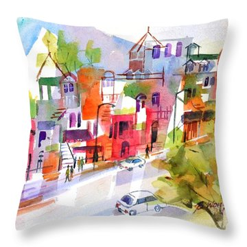 Stroll In Montreal Throw Pillow