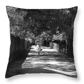 Stroll To Store Throw Pillow by Eric Liller