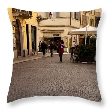 Strolling About Parma Throw Pillow by Rae Tucker