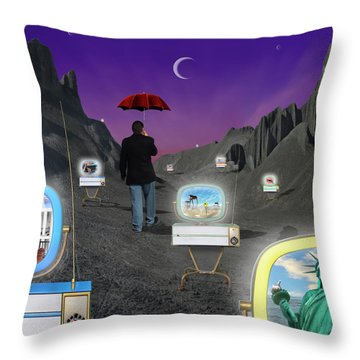 Throw Pillow featuring the photograph Strolling Down Memory Lane by Mike McGlothlen