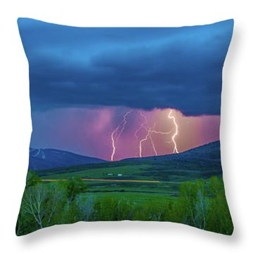 Storm Peak  Throw Pillow