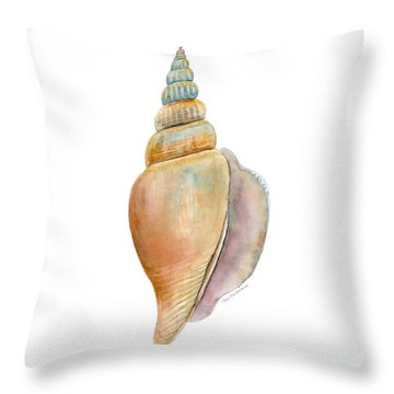 Strombus Vittatus Shell Throw Pillow