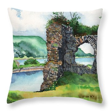 Strome Castle Scotland Throw Pillow