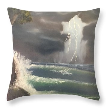 Strong Against The Storm Throw Pillow by Thomas Janos