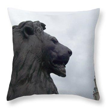 Strong Lion Throw Pillow