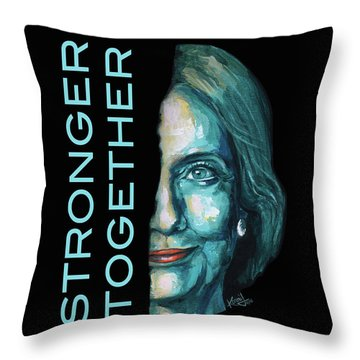 Stronger Together Throw Pillow by Konni Jensen