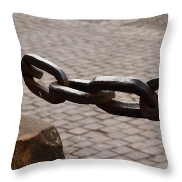 Strongest Link Throw Pillow by Ramabhadran Thirupattur