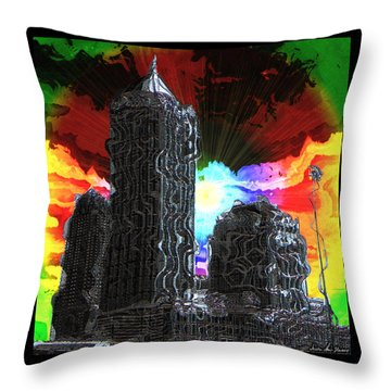 Throw Pillow featuring the photograph Structural Dissonance by Iowan Stone-Flowers