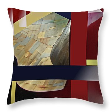 Throw Pillow featuring the digital art Structure 0217 by Walter Fahmy