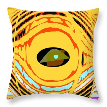 Structure In Perspective Throw Pillow by Ian  MacDonald