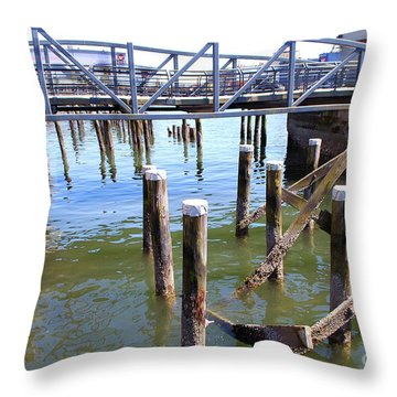 Throw Pillow featuring the photograph Structures by Bill Thomson