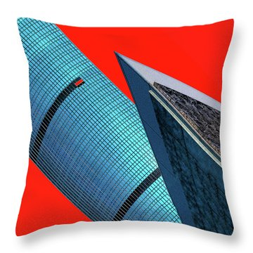 Structures Tilted 2 Throw Pillow by Bruce Iorio